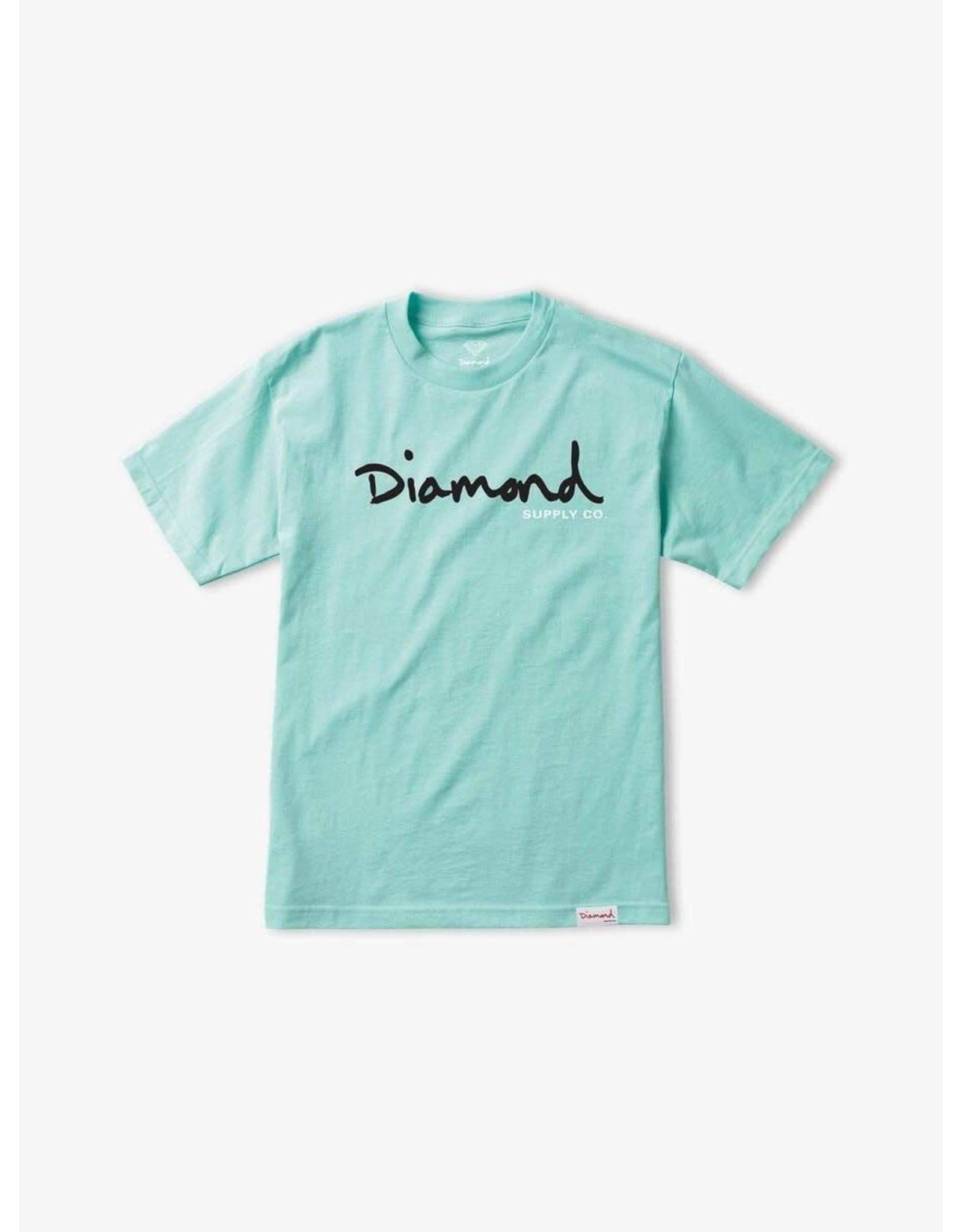 Diamond Supply Co. Diamond Supply Co.  - T-shirt homme og script blue