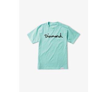 Diamond Supply Co.  - T-shirt homme og script blue