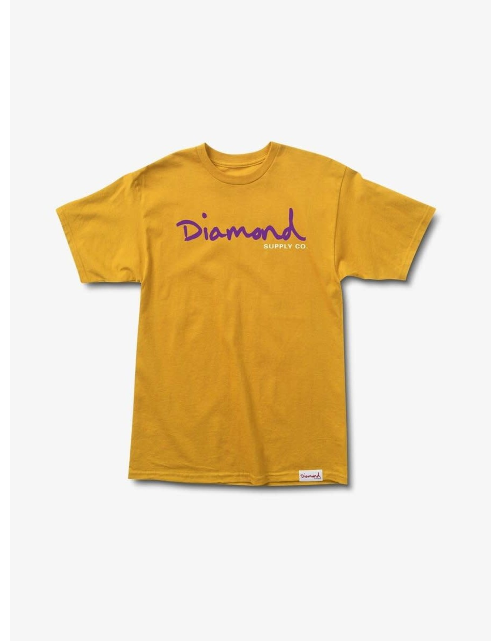 Diamond Supply Co. Diamond Supply Co.  - T-shirt homme og script gold