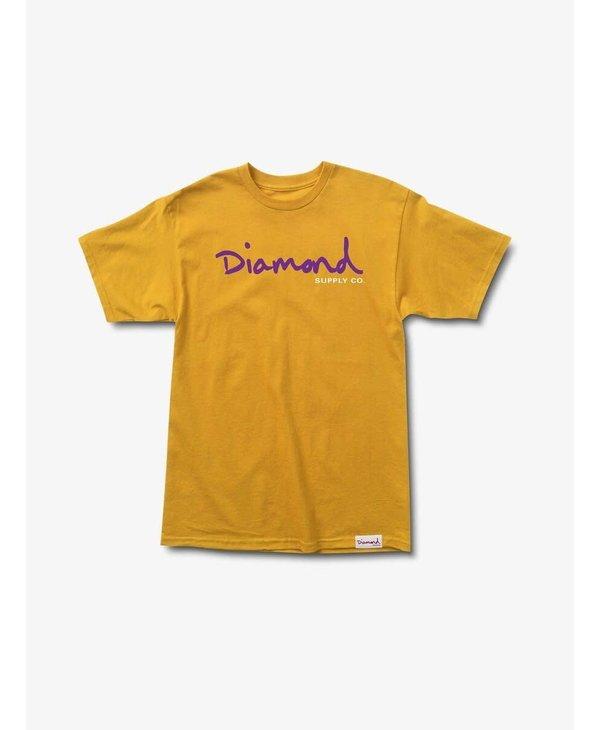 Diamond Supply Co.  - T-shirt homme og script gold