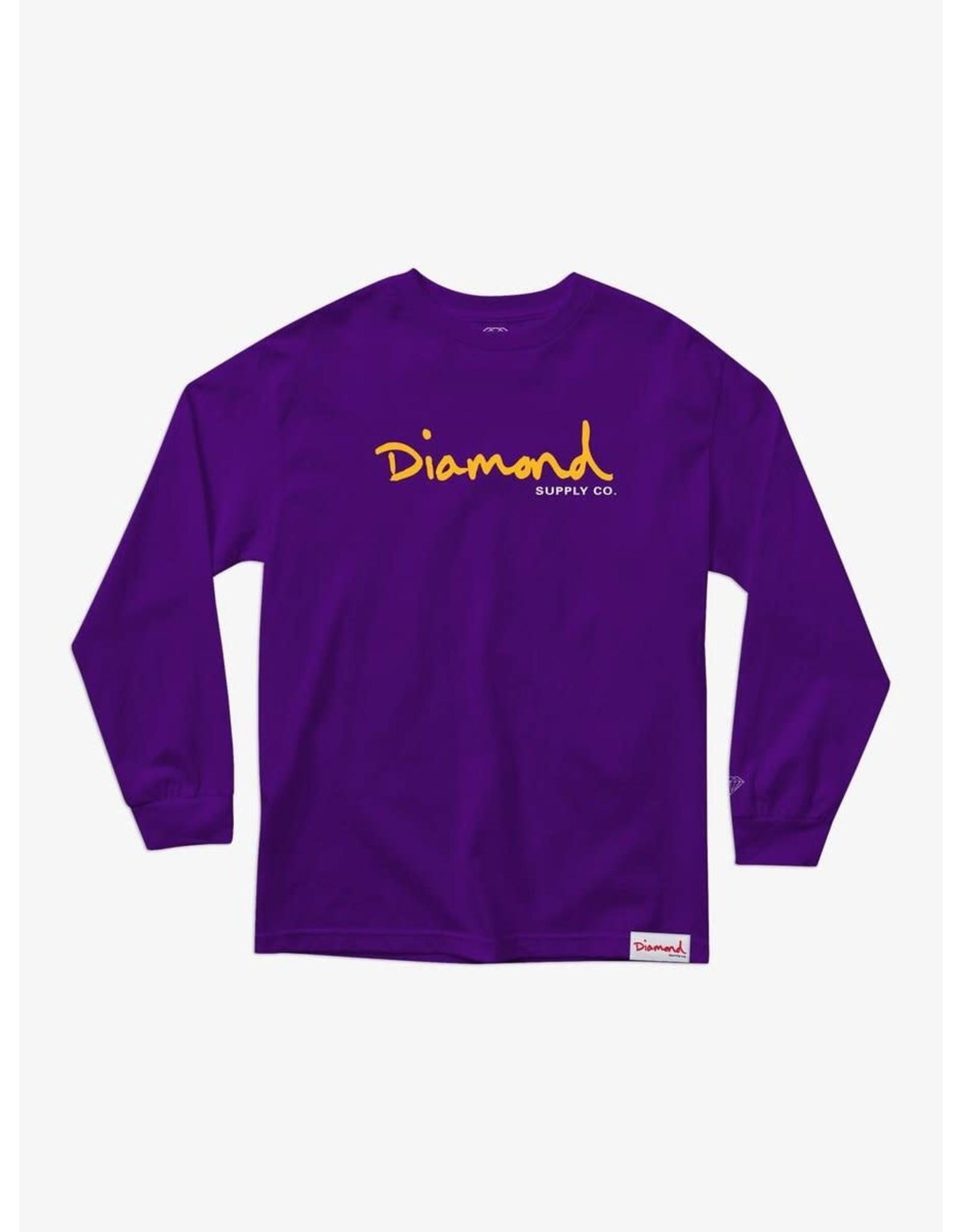 Diamond Supply Co. Diamond Supply Co.  - Chandail long homme og script purple
