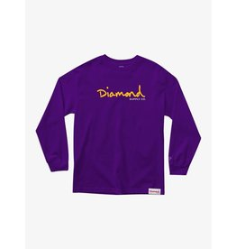 Diamond Supply Co. Diamond Supply Co.  - Chandail long homme og script purple