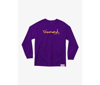 Diamond Supply Co.  - Chandail long homme og script purple
