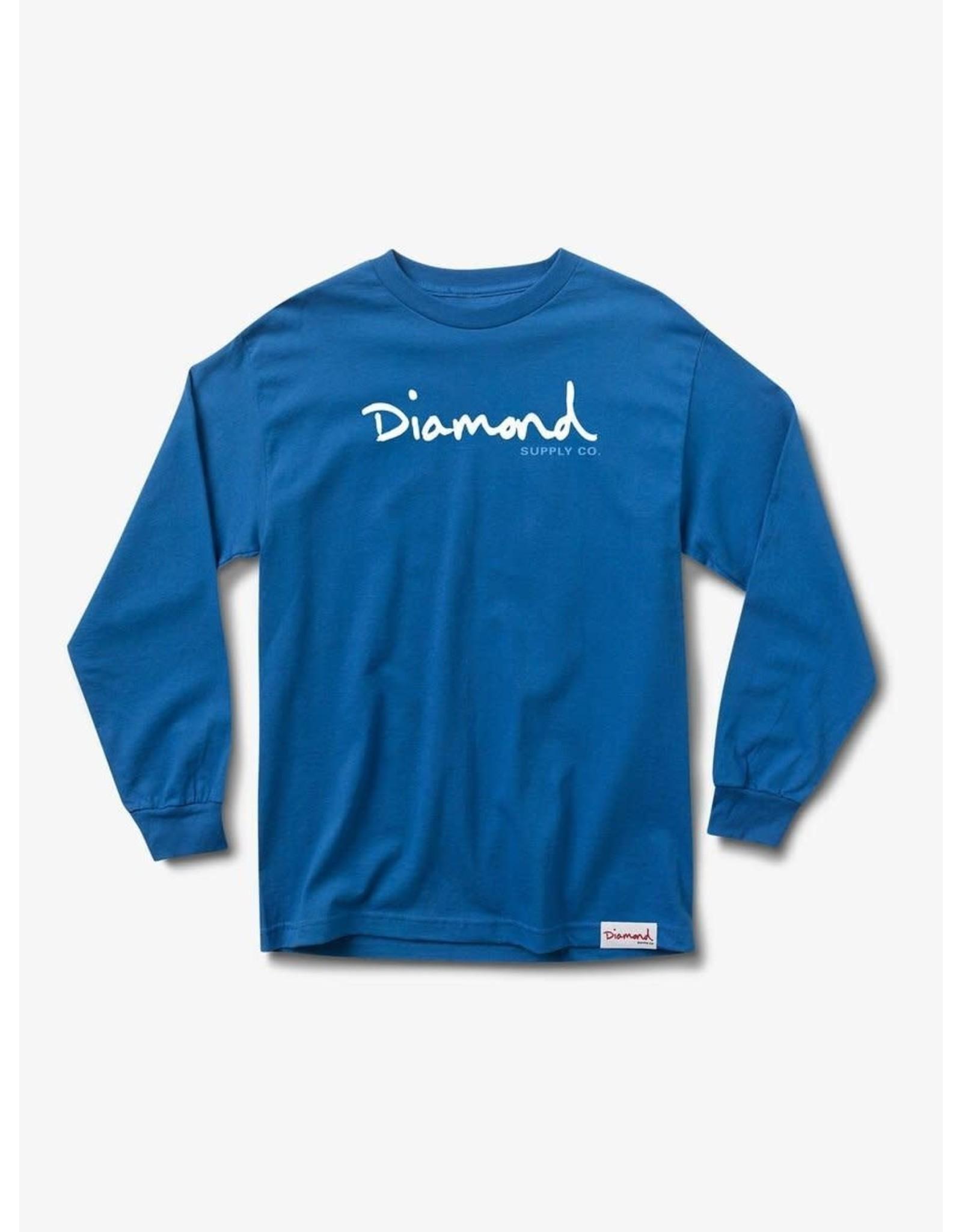 Diamond Supply Co. Diamond Supply Co.  - Chandail long homme og script blue