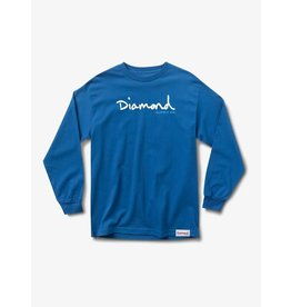 Diamond Supply Co. Diamond Supply Co.  - Chandail long homme og script blue