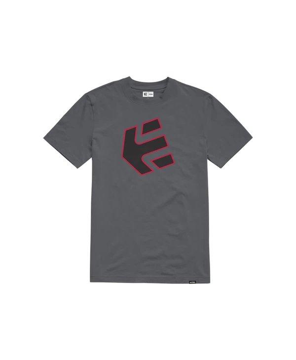 Etnies - T-shirt homme crank grey/black/red