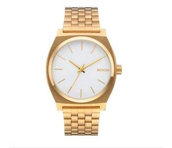 Nixon - Montre homme time teller gold/white