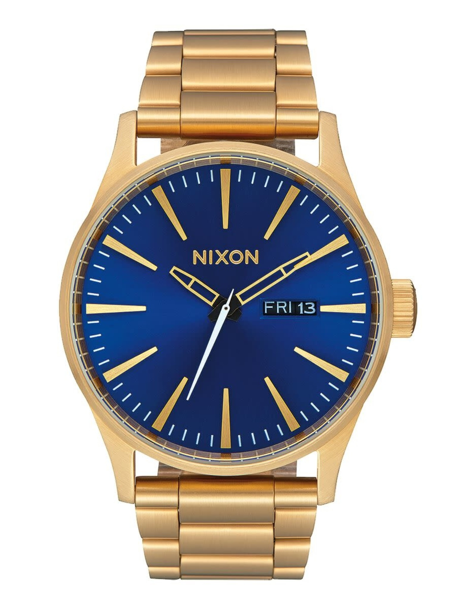 nixon Nixon - Montre homme sentry ss all gold/blue sunray