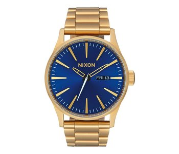Nixon - Montre homme sentry ss all gold/blue sunray