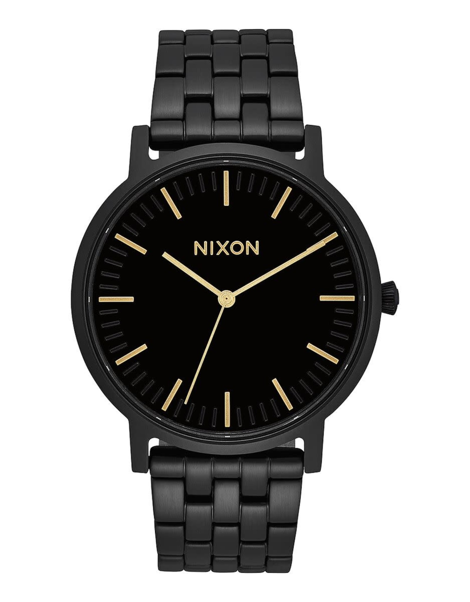 nixon Nixon - Montre homme porter all black/gold