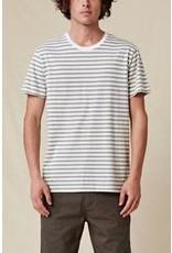 globe Globe - T-Shirt homme horizon striped white