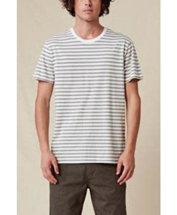 Globe - T-Shirt homme horizon striped white