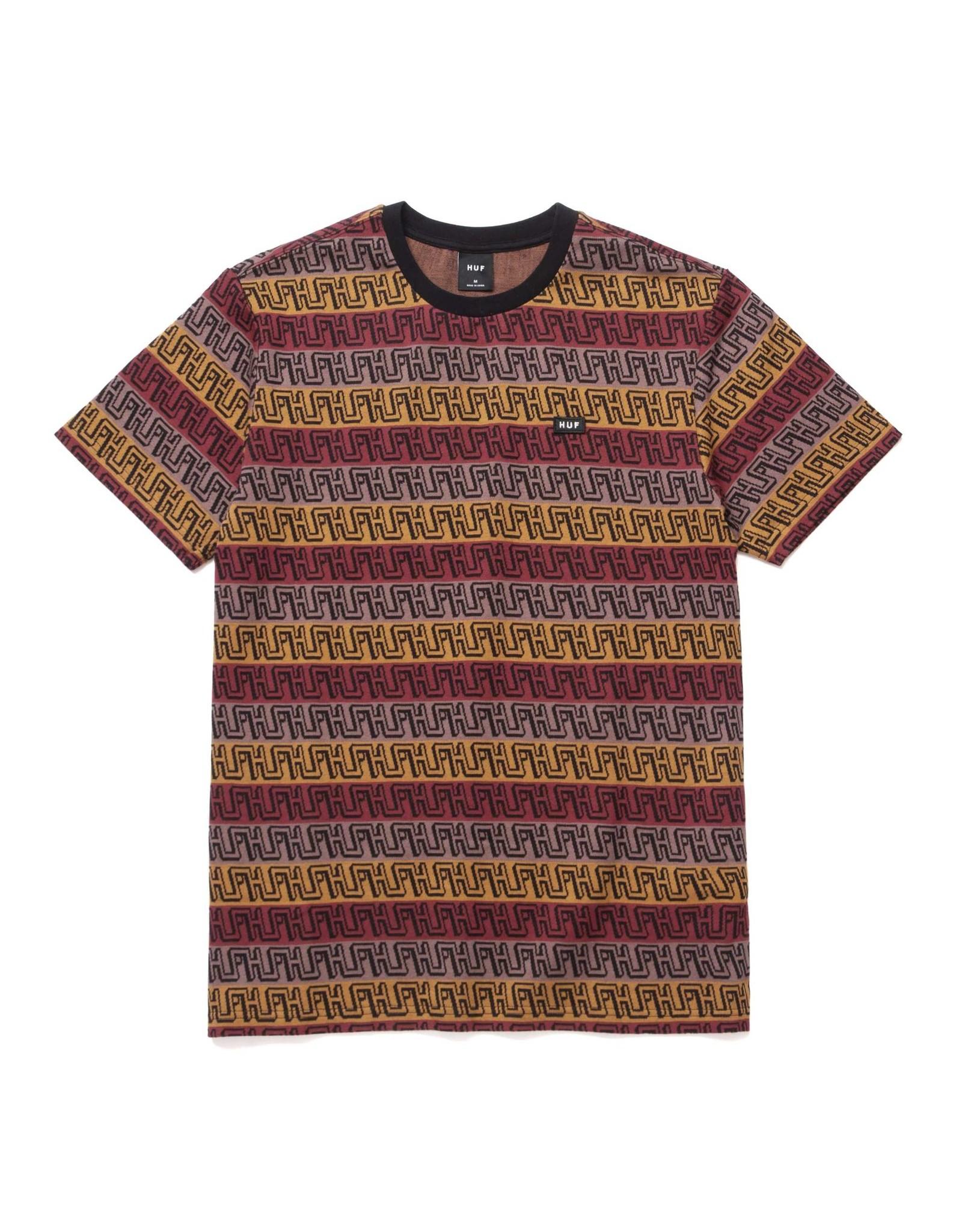 huf Huf - T-shirt homme otis jacquard knit  top olive