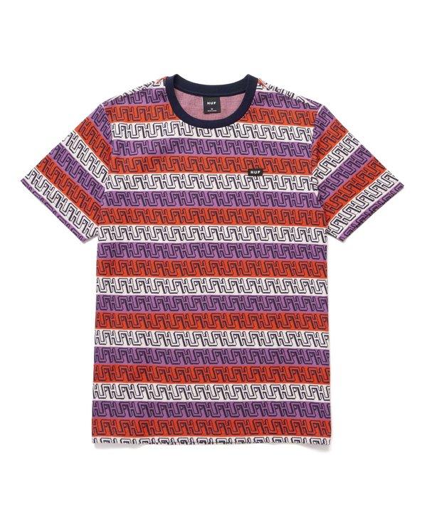 Huf - T-shirt homme otis jacquard knit top poppy