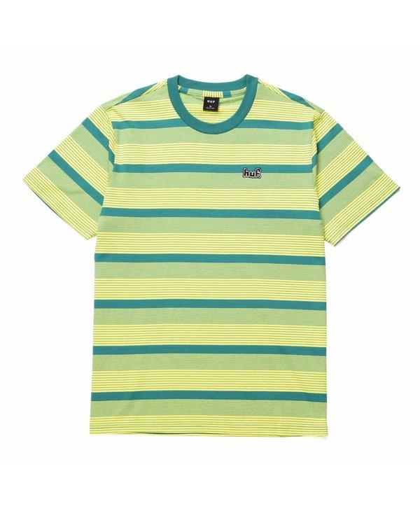 Huf - T-shirt homme berkley  stripe knit top lemon