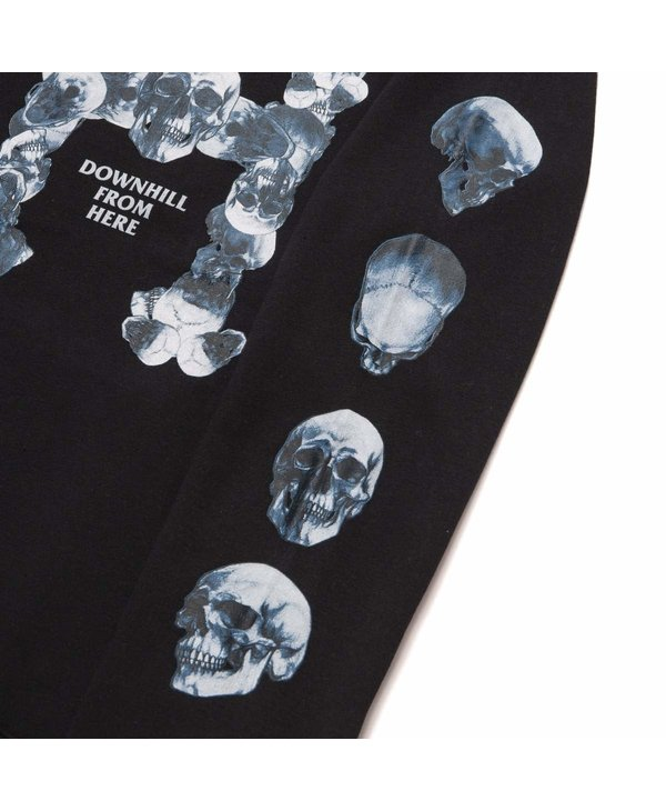 Huf - Ouaté homme skulls classic H  po black