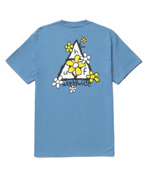 Huf - T-shirt homme pushing daisies TT columbia blue