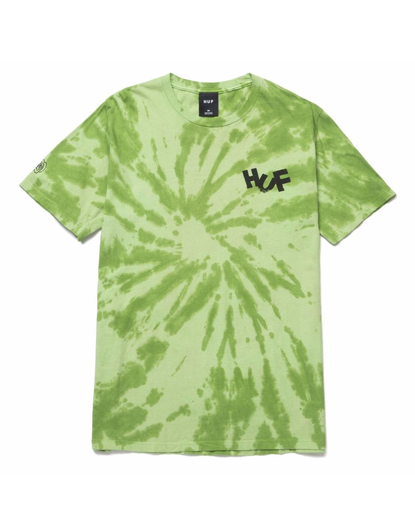 huf Huf - T-shirt homme haze brush tie dye lime