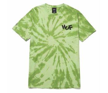 Huf - T-shirt homme haze brush tie dye lime