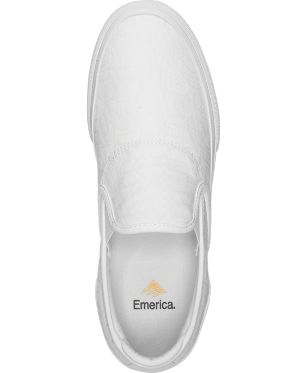 Emerica - Soulier homme Wino g6 slip-on white/print