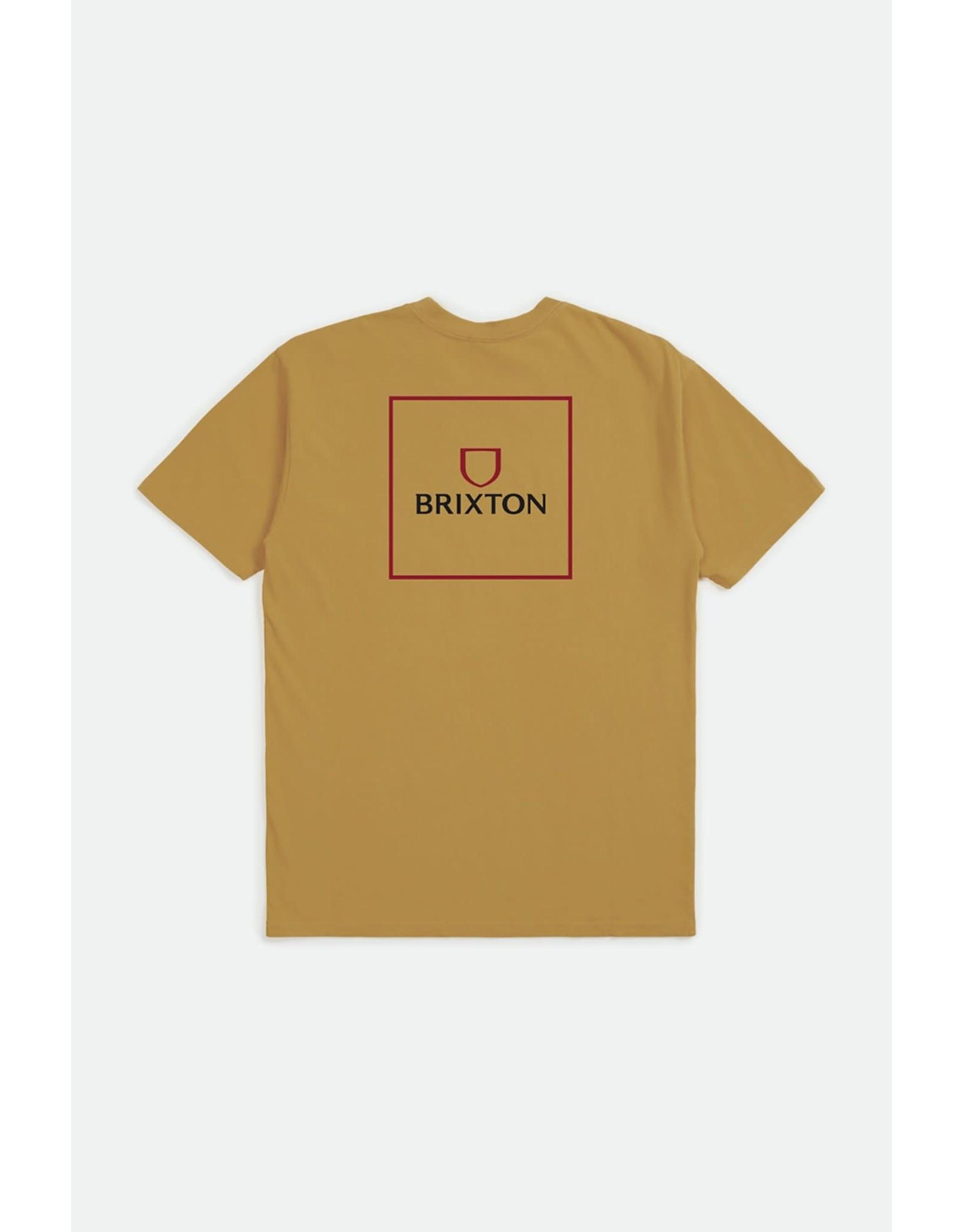 Brixton Brixton - T-shirt homme alpha square antique gold