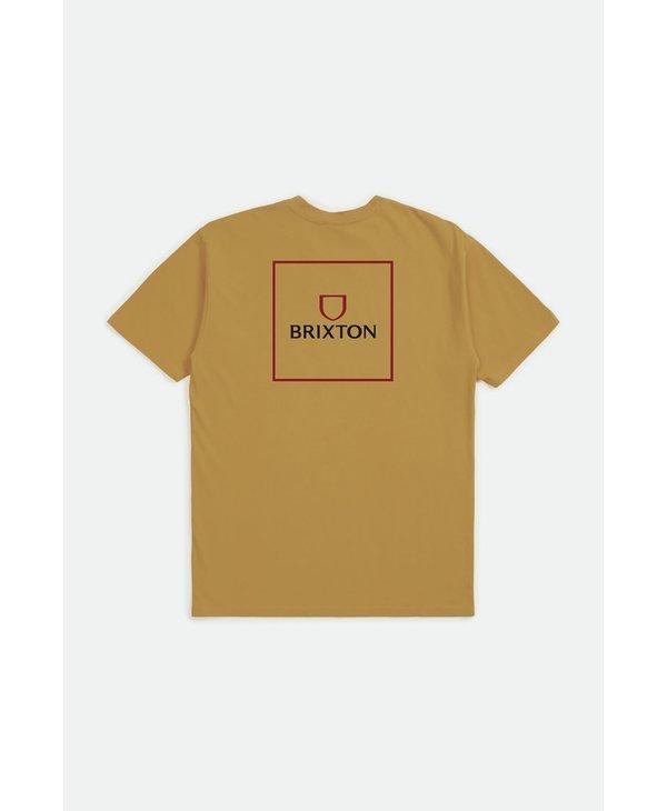 Brixton - T-shirt homme alpha square antique gold