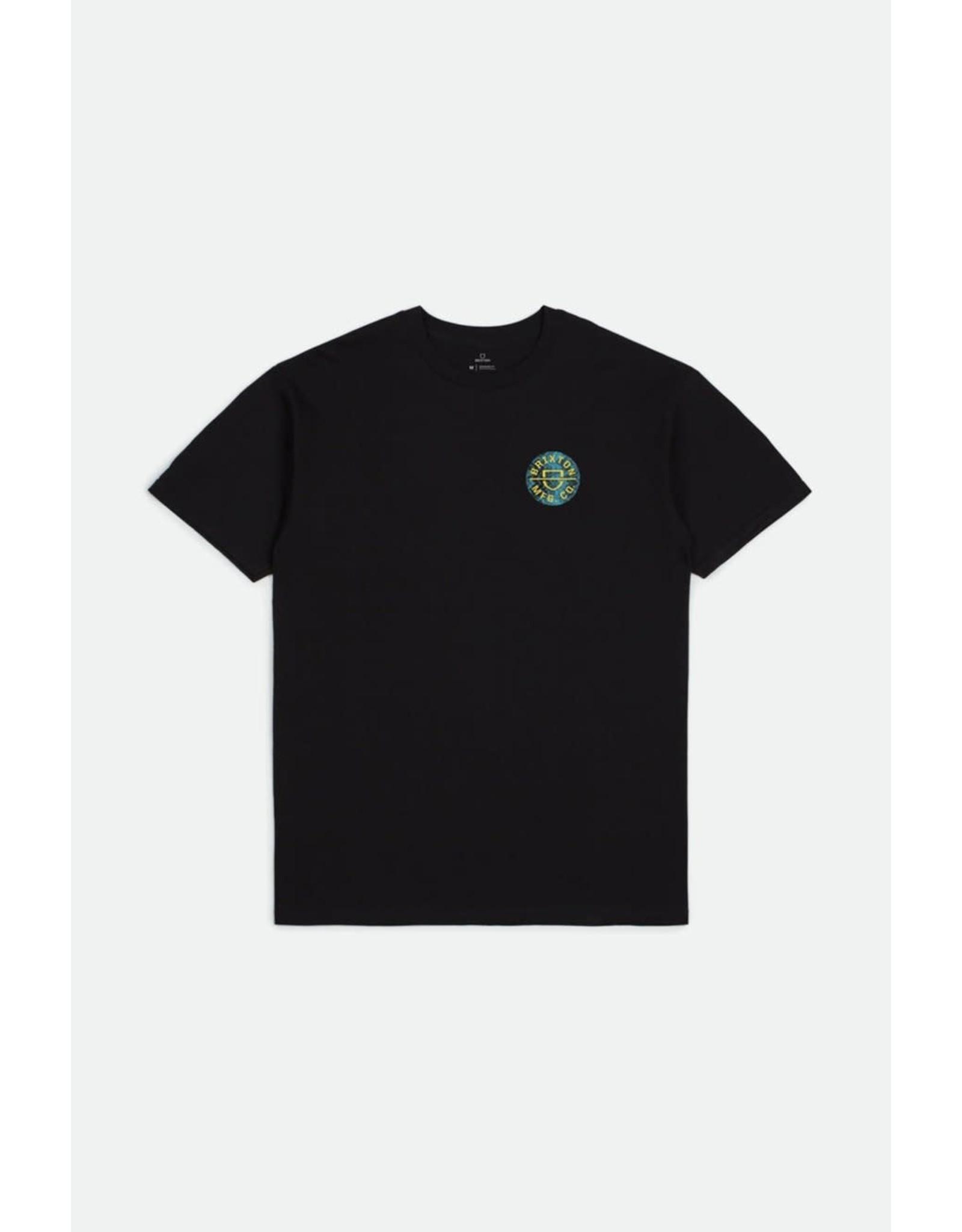 Brixton Brixton - T-shirt homme crest II black/yellow