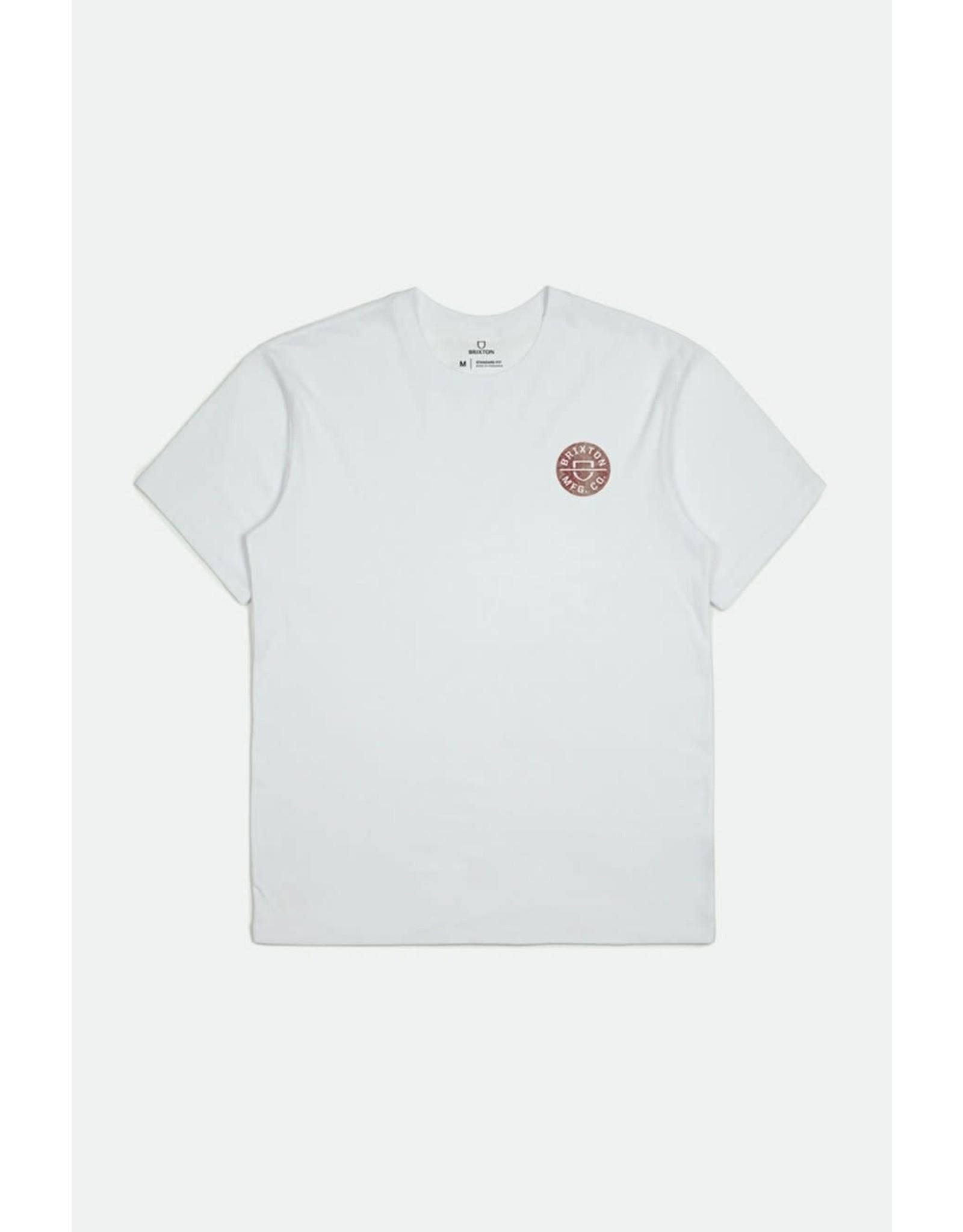 Brixton Brixton - T-shirt homme crest II white