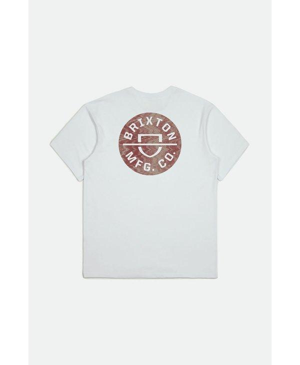 Brixton - T-shirt homme crest II white