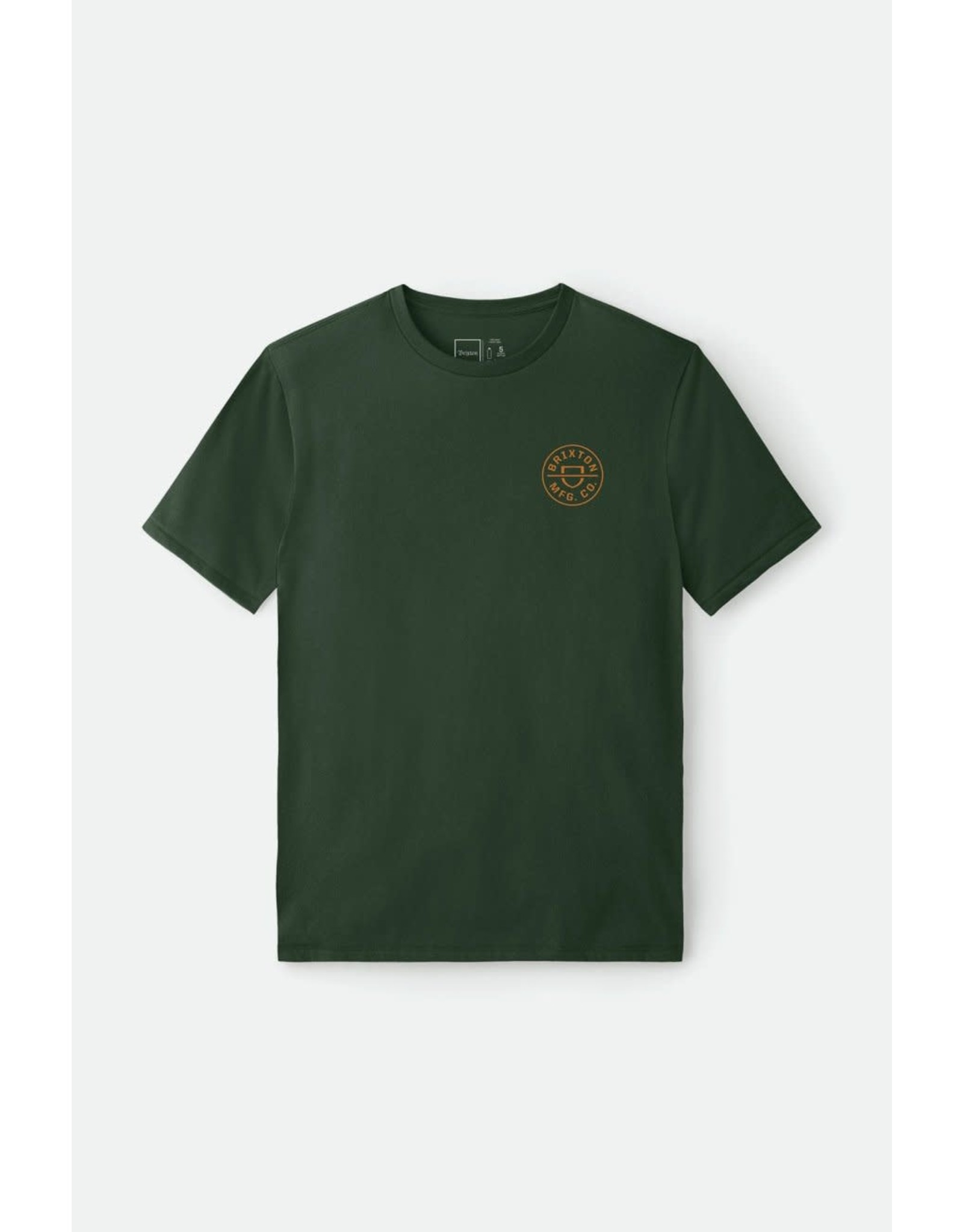 Brixton Brixton - T-shirt homme crest crossover hunter green