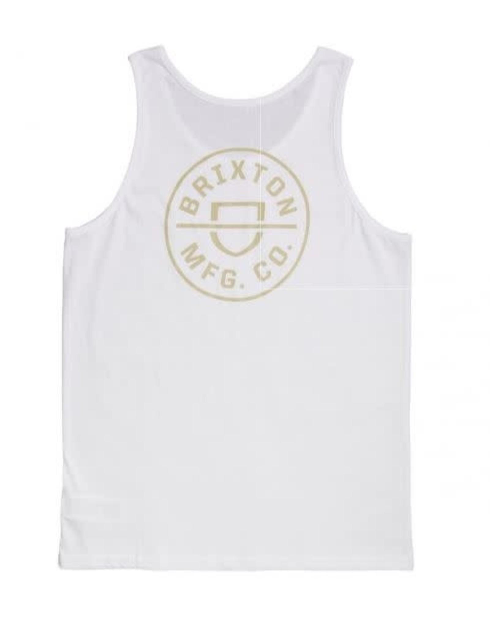 Brixton Brixton - Camisole homme crest white/orange