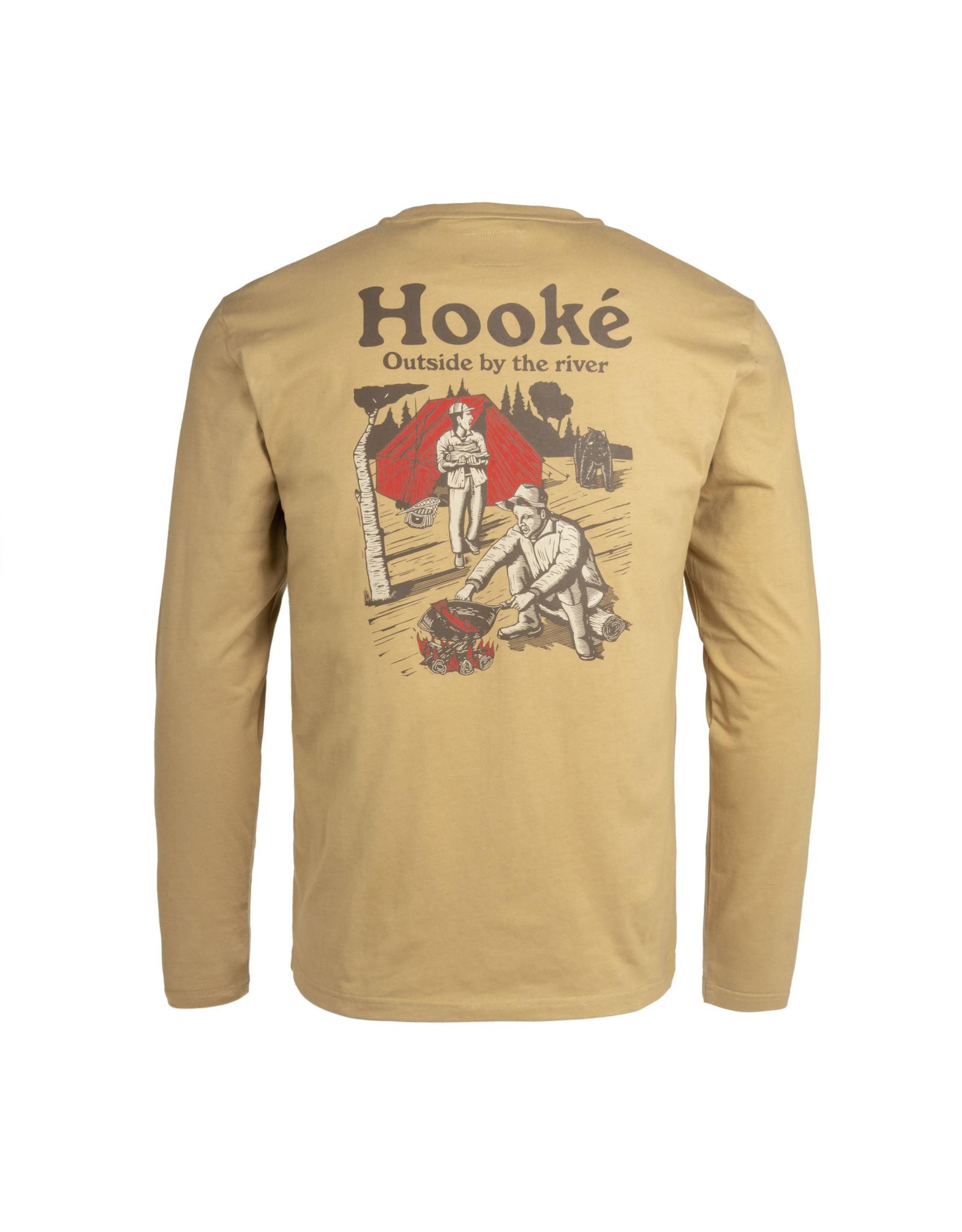 Hooké Hooké - Chandail long homme campground tan