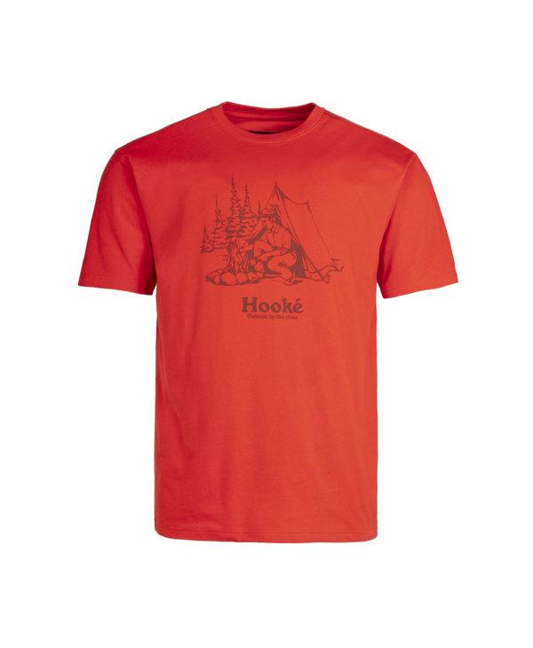 Hooké - T-shirt homme campfire red clay