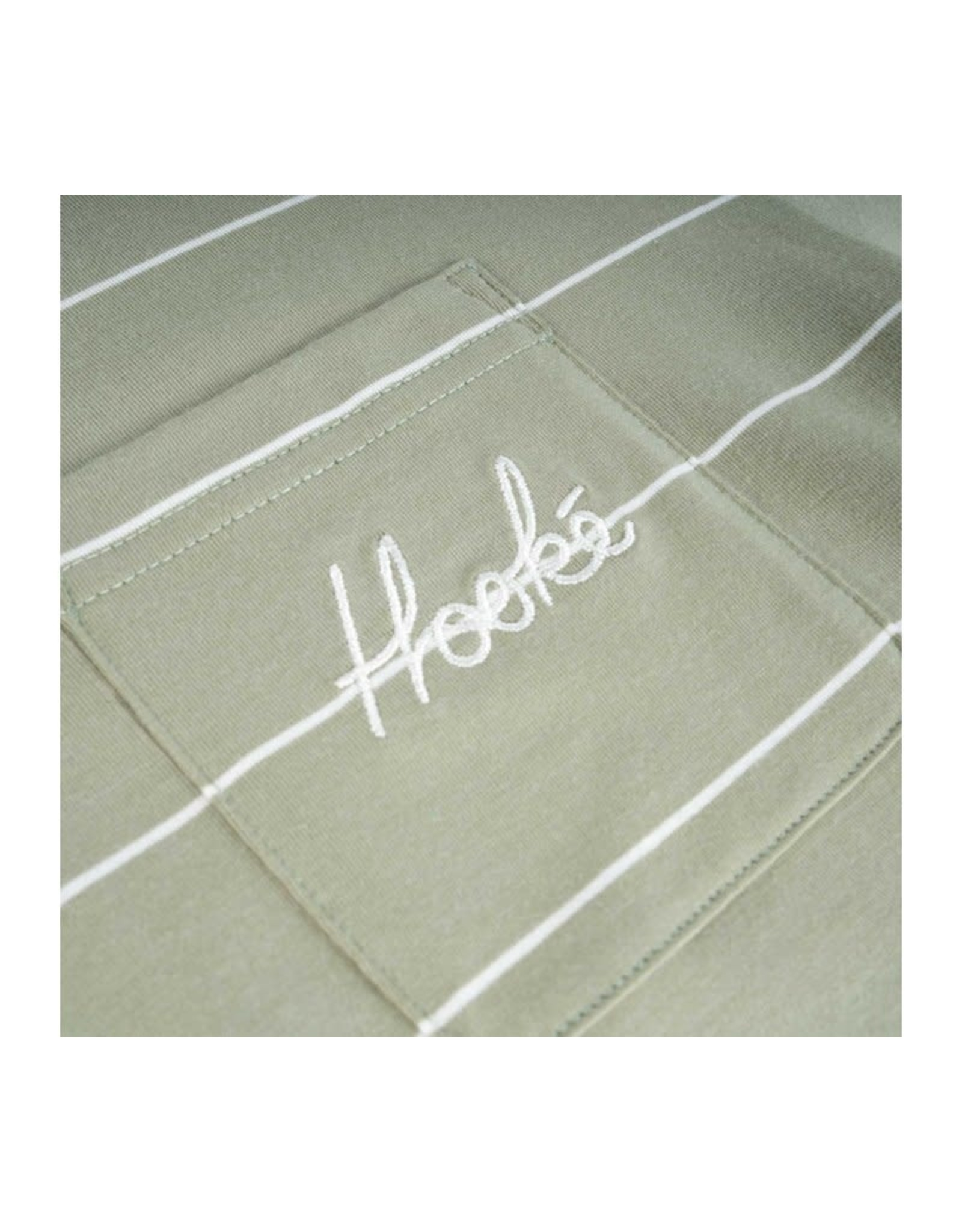 Hooké Hooké - Chandail long femme signature pocket light sage