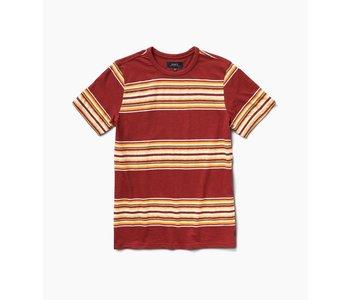 Roark - T-shirt homme anchors stripe knit wine