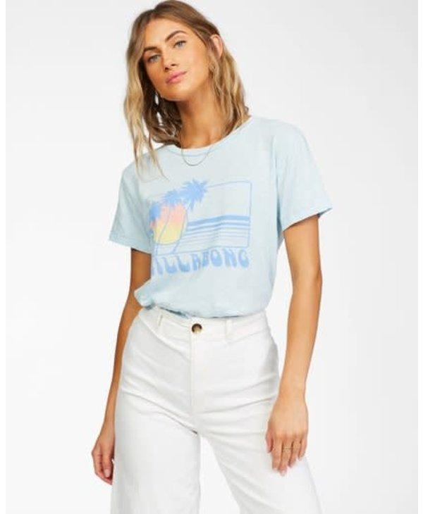 Billabong - T-shirt femme sunset view pool blue