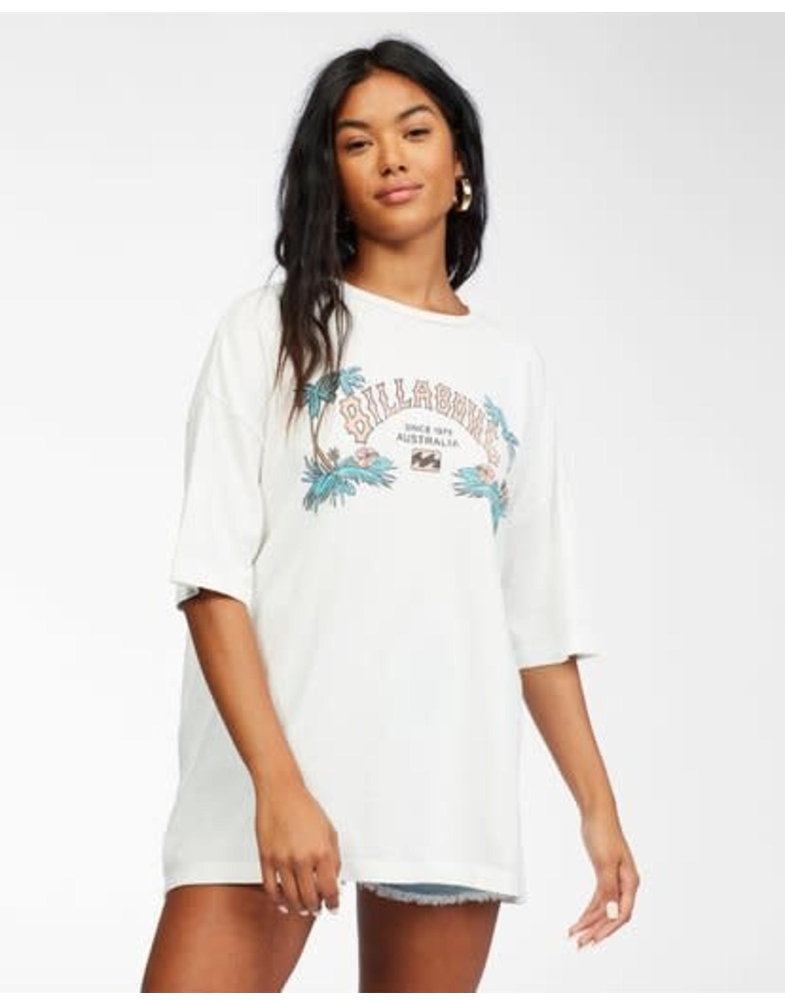 billabong Billabong - T-shirt femme heritage palms salt crystal