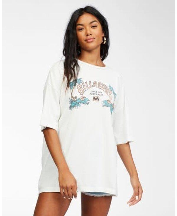 Billabong - T-shirt femme heritage palms salt crystal