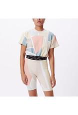 Obey Obey - T-shirt femme glen aspen top peach multi