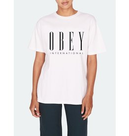 Obey Obey - T- shirt femme new choice white