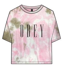 Obey Obey - T-shrt femme obey new soft tone pink/tan tie dye