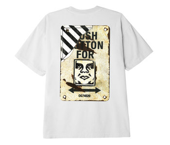 Obey - T-shirt homme crosswalk sign white