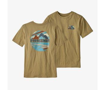Patagonia - T-shirt junior graphic organic fitz roy rights moray khaki