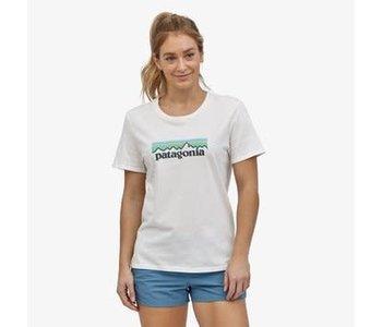 Patagonia - T-shirt femme pastel p-6logo organic crew white