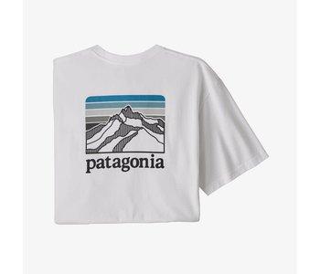 Patagonia -T-shirt homme line logo ridge pocket responsibility white