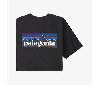 Patagonia - T-shirt homme  p-6 logo responsability black