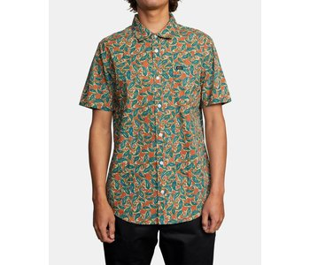 Rvca - Chemise homme mind flower paisley clay