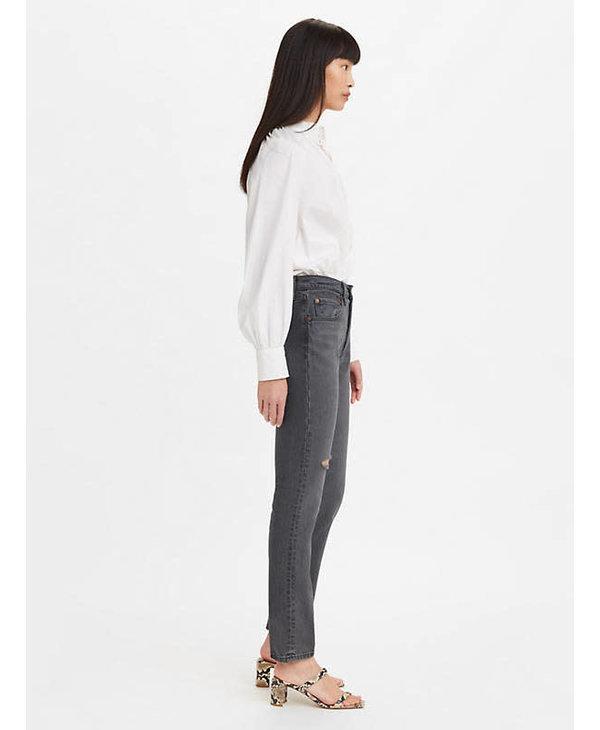 Levi's - Jeans femme 501 skinny filiforme dark side of the moon-red