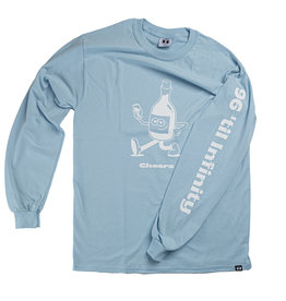 96 COLLECTIF 96 Collectif - Chandail long homme cheers bleu
