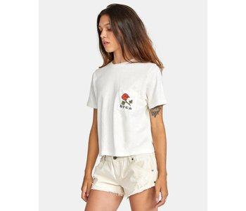 Rvca - T-shirt femme forever vintage white